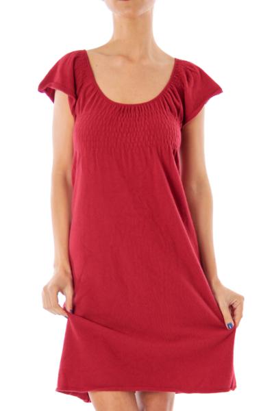 Red Tent Knit Dress