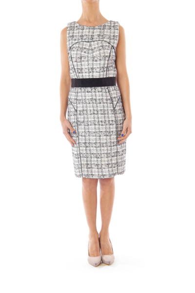 Black & White Check Sheath Dress