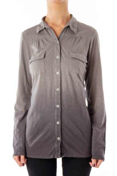 Gray Gradation Button Down Shirt