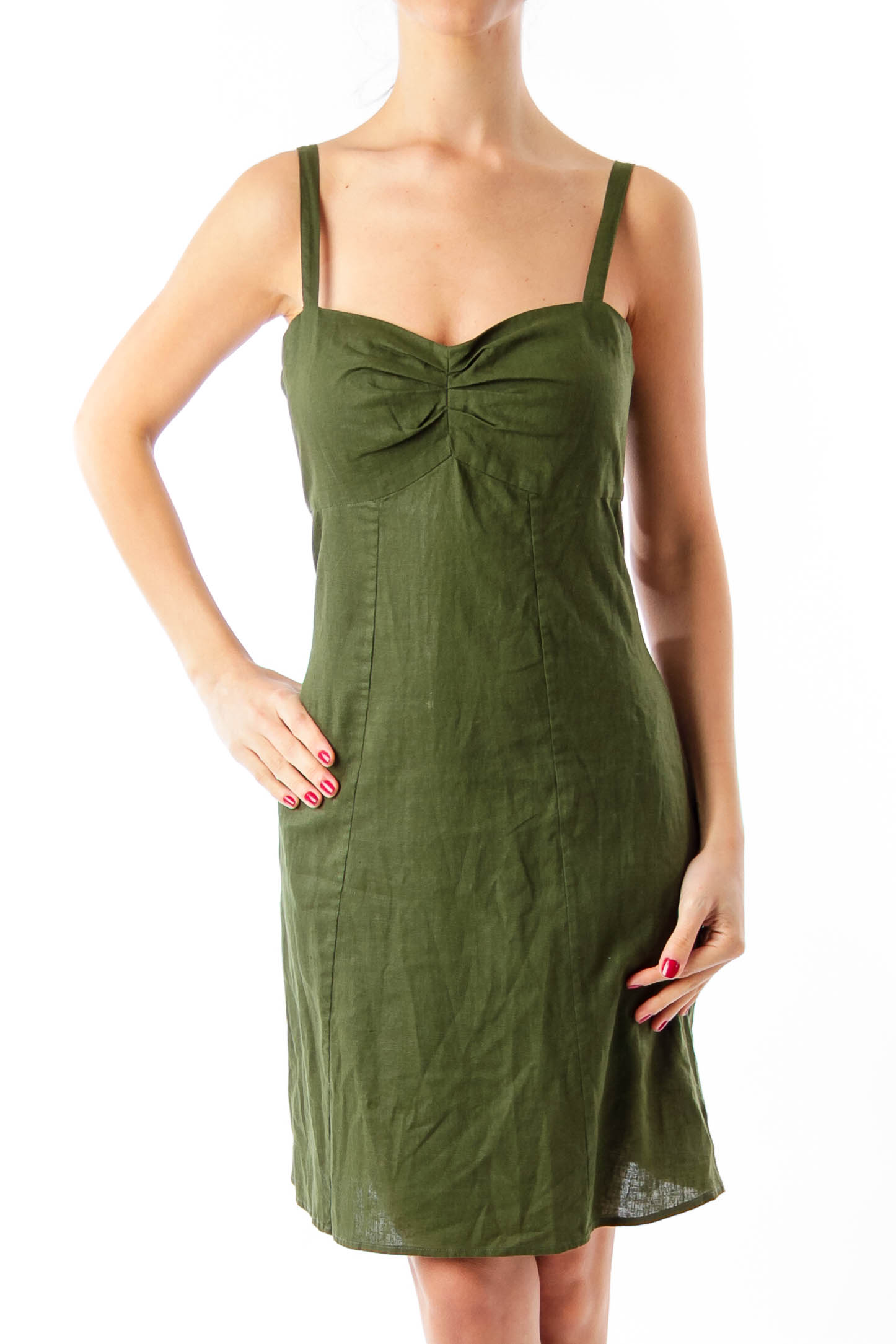Army Green Slip Dress