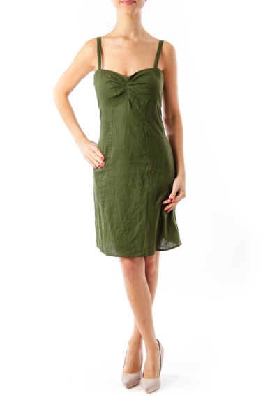 Army Green Slip Dress