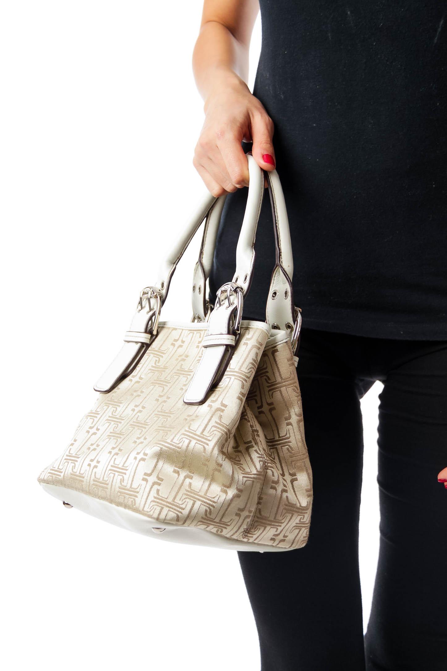 Beige Pattern Tote Bag