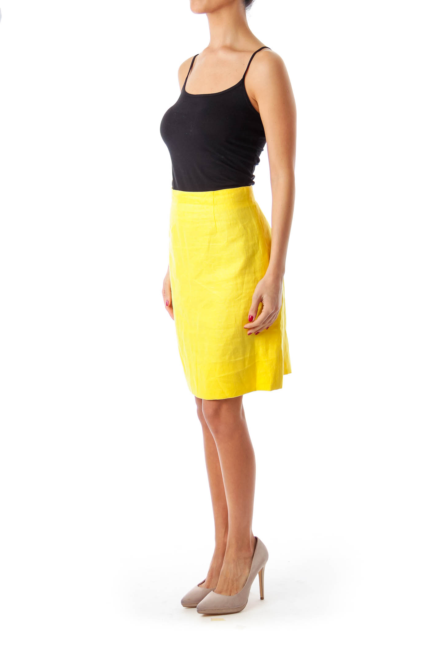 Yellow Pencil Skirt