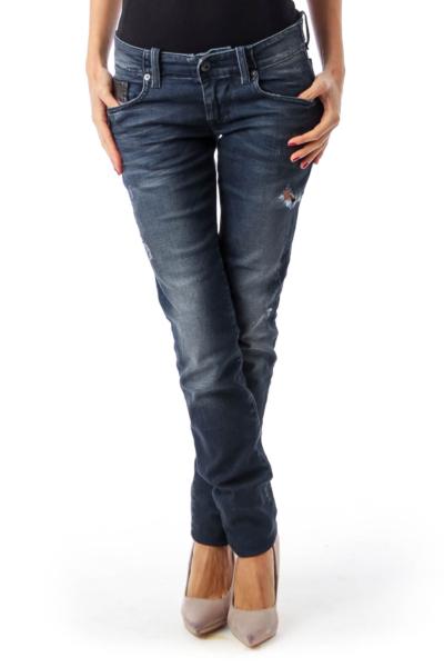 Deep Blue Slim Skinny Jeans