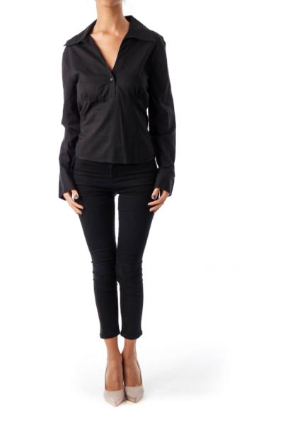 Black Two Button Shirt