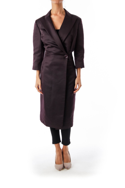 Brown One Button Coat