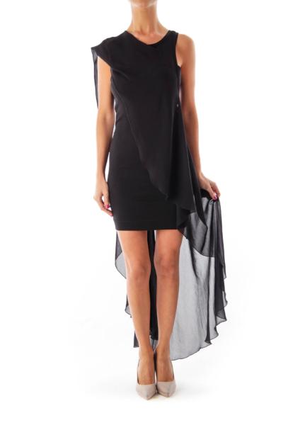 Black Mini Mullet Dress