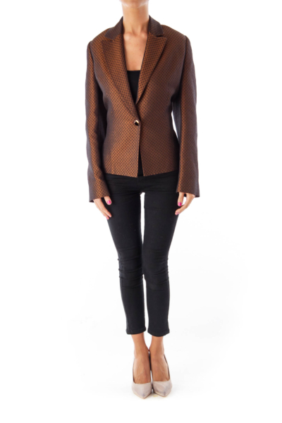 Brown Metallic Blazer