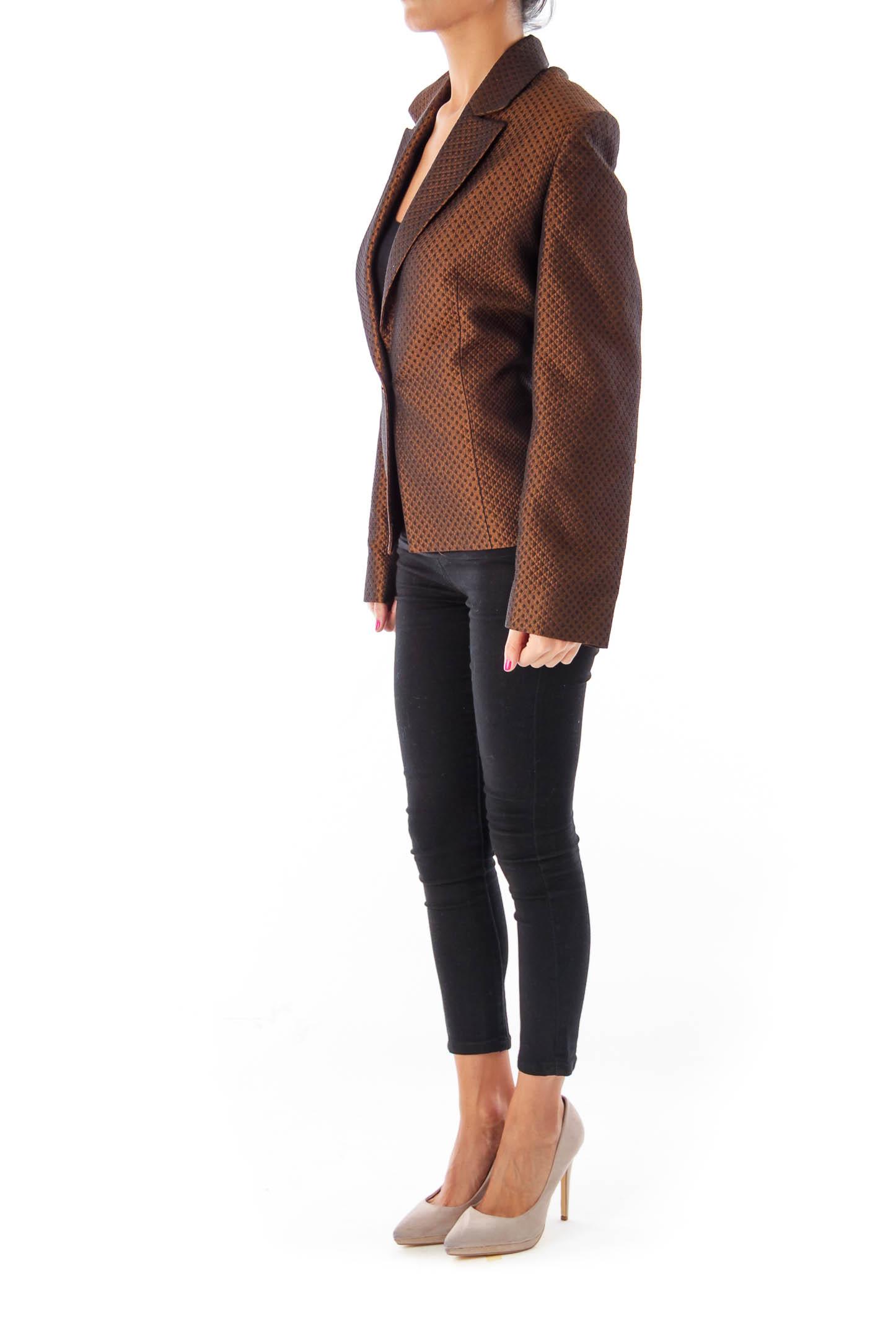 Brown Metallic Blazer