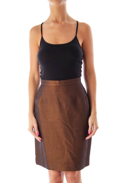 Brown Metallic Skirt