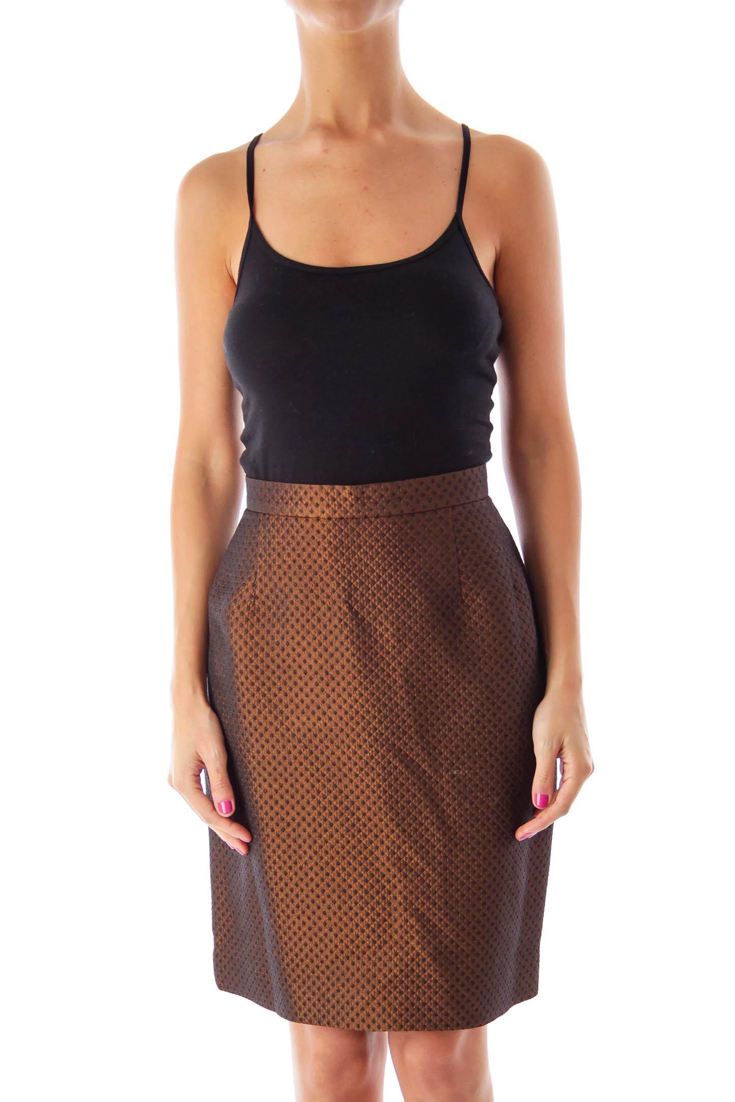 Brown Metallic Skirt