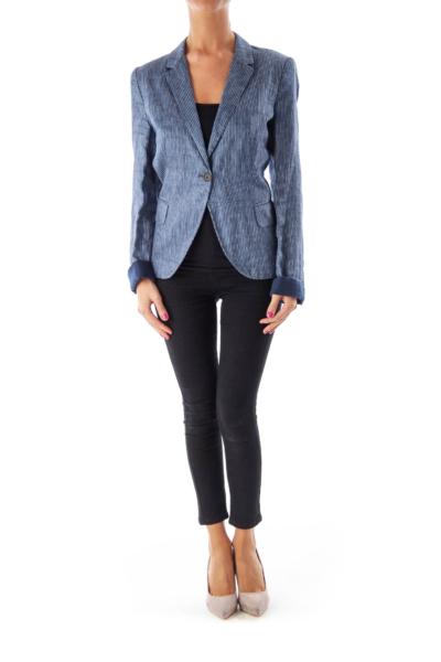 Blue Striped Blazer
