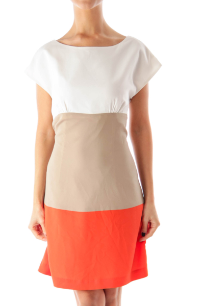 Color Block Straight Dress