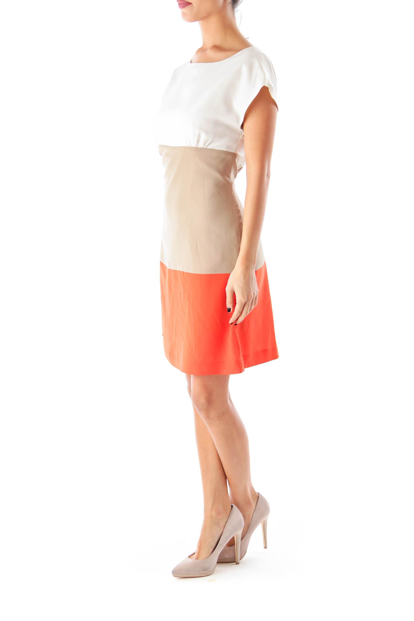 Color Block Straight Dress
