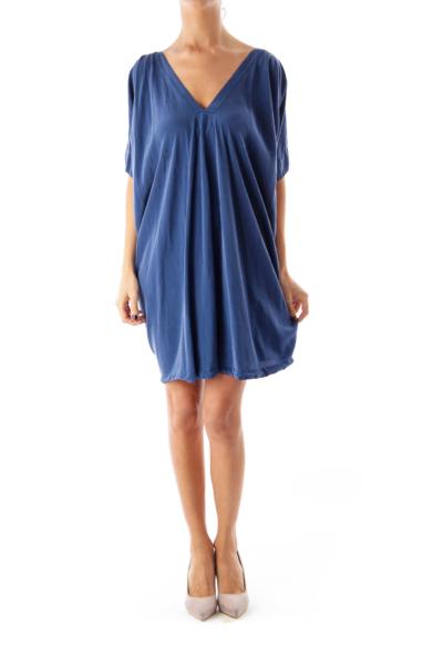 Blue Silk Loose Fit Dress
