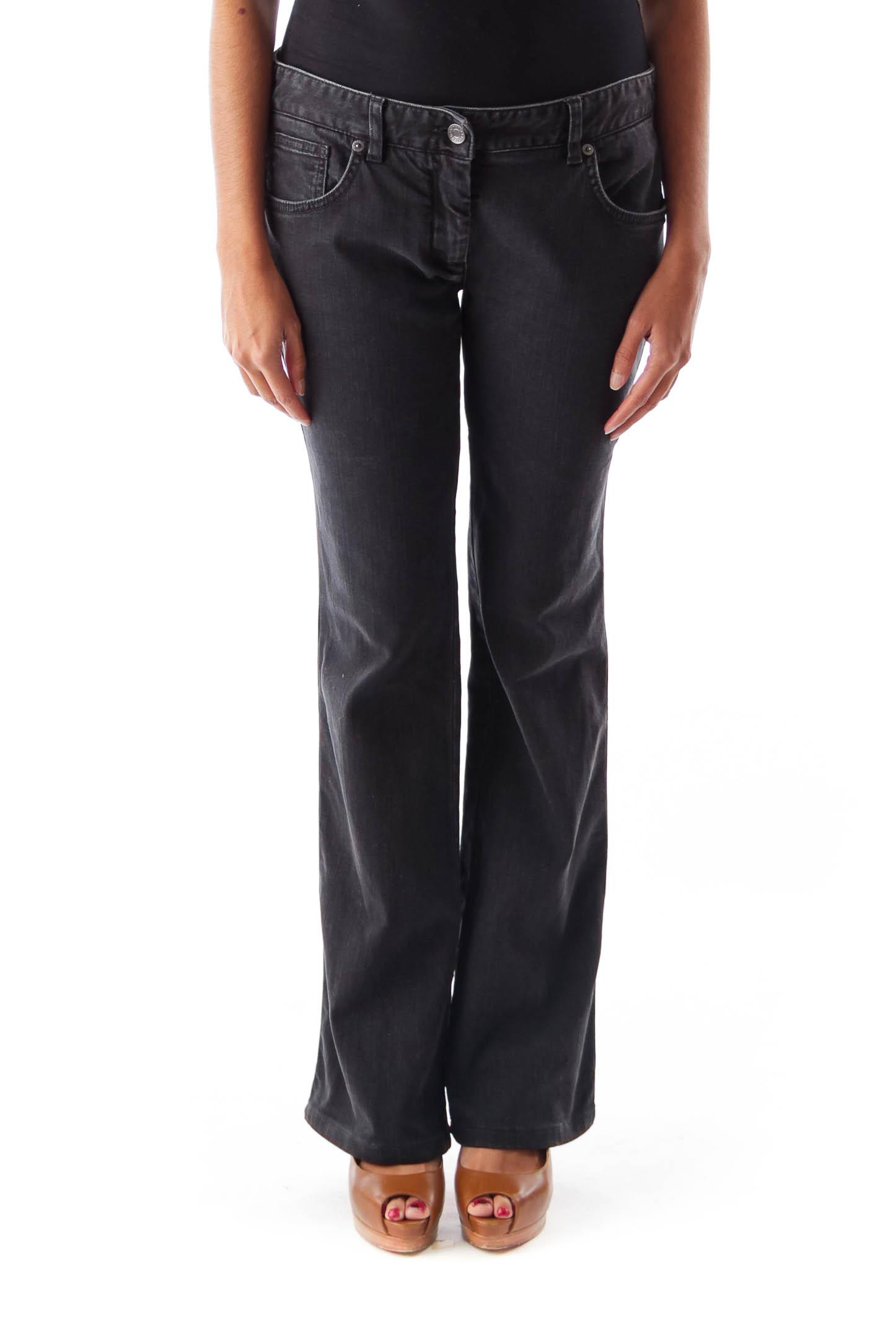 Black Flare Denim Pants
