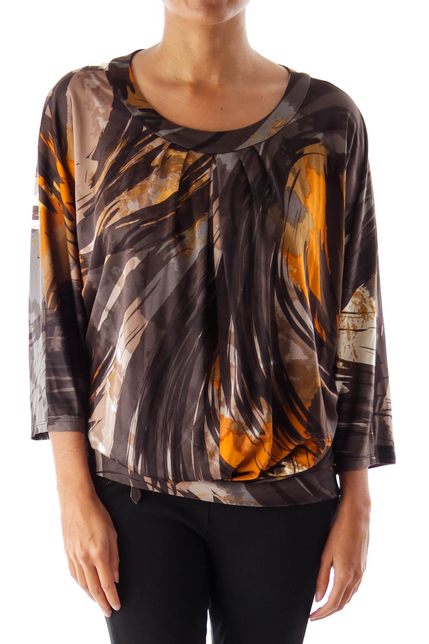 Black & Brown Print Shirt
