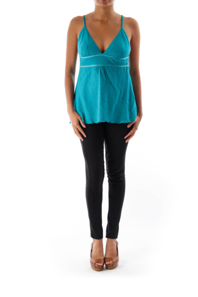 Turquoise Strappy Top