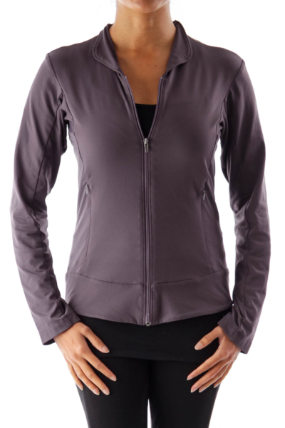 Gray Zipper Sport Shirt