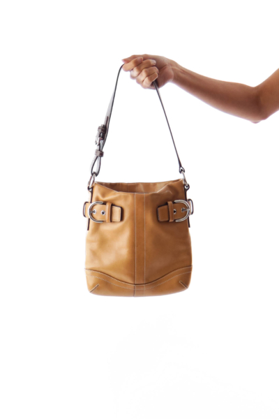 Beige & Brown Mini Handbag