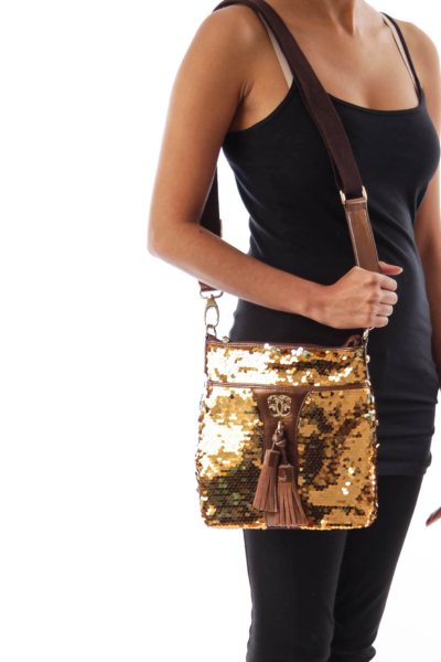 Gold Sequin Crossbody bag