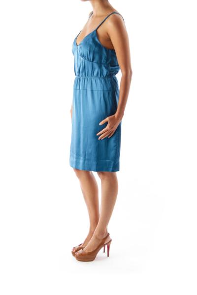 Blue Camisole Mini Dress
