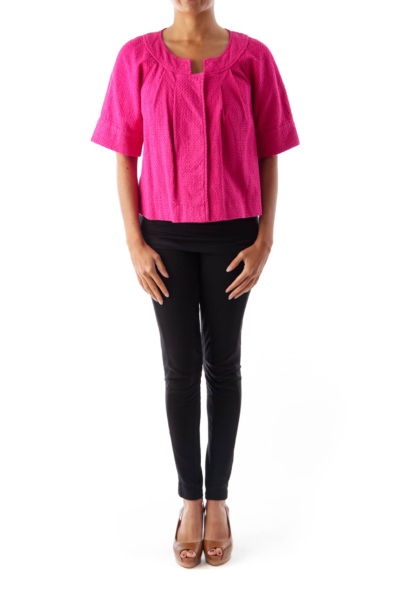 Pink Front Button Shirt