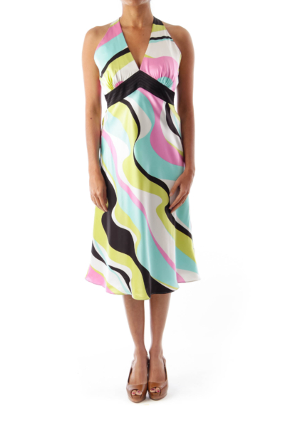 Print Halterneck Dress