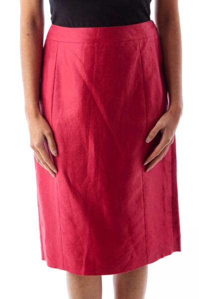 Cherry Knee Length Skirt