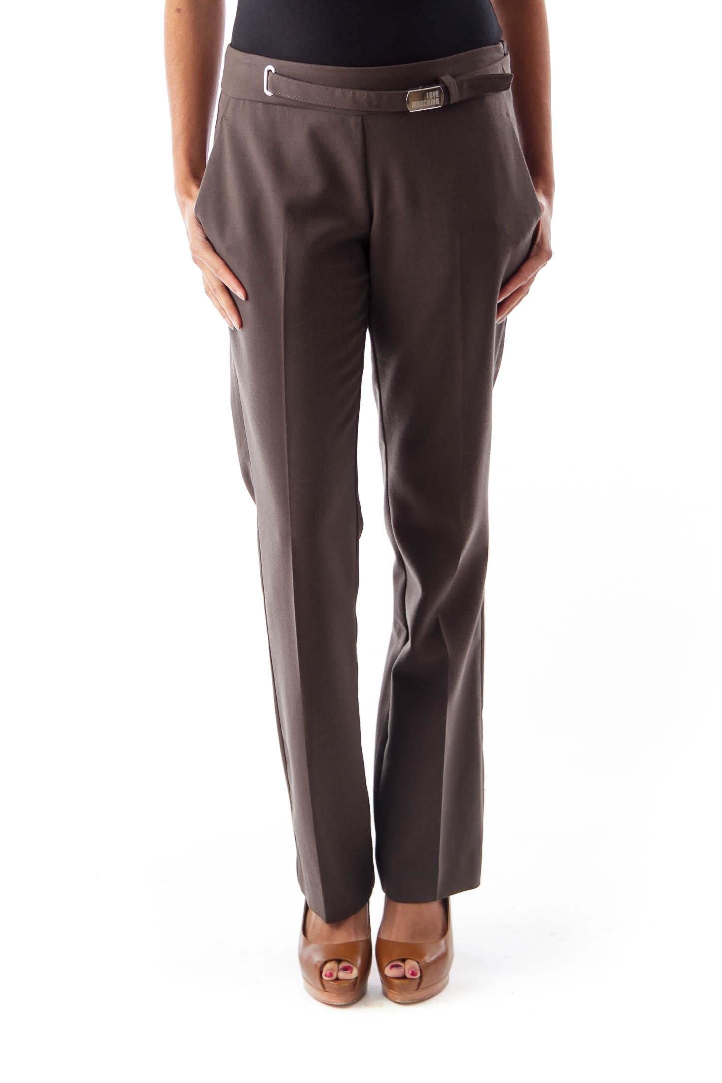 Brown Low Waist Pants