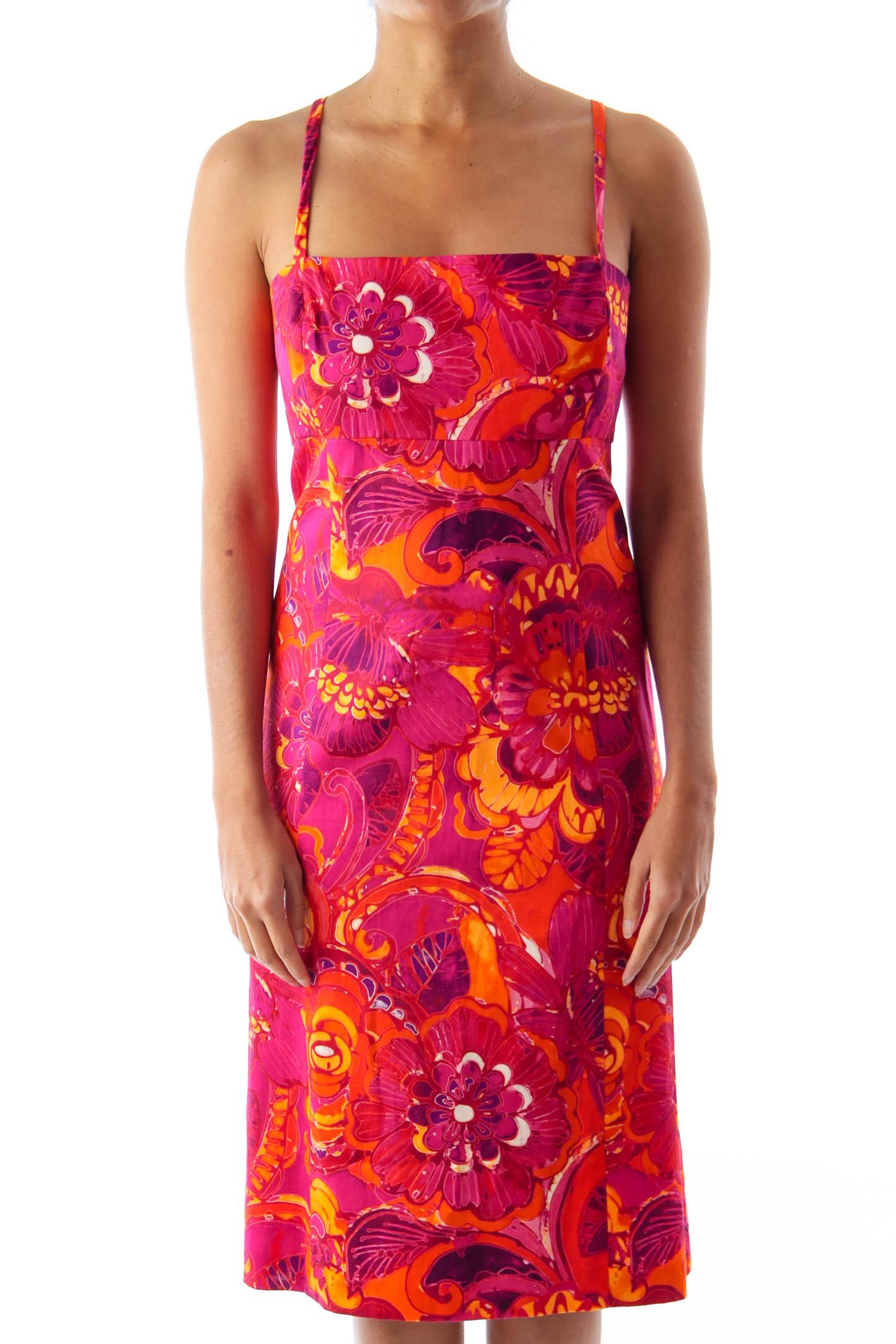 Pink & Orange Mini Dress