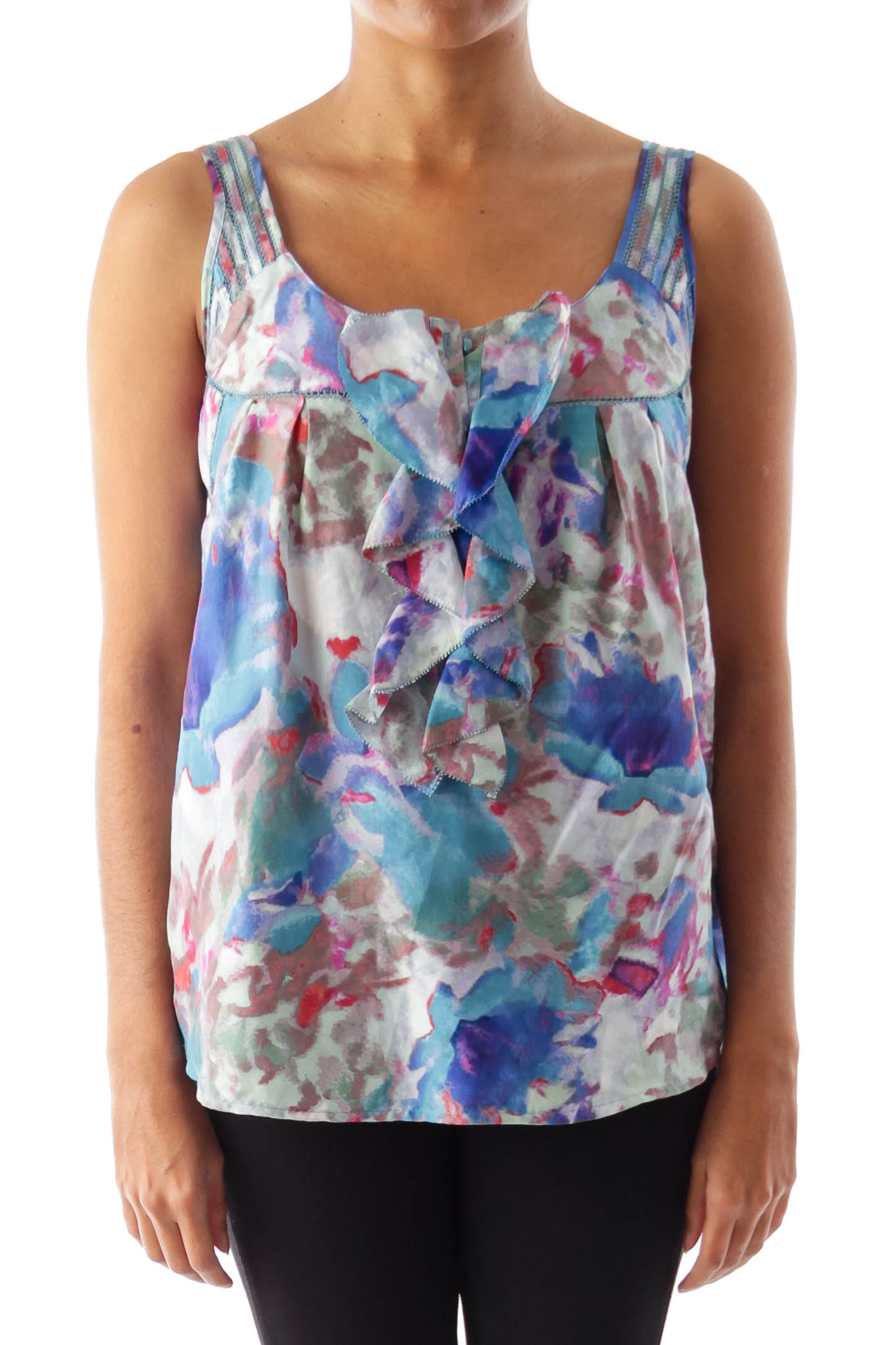 Color tie dye ruffle shirt 2 silkroll for Tie dye coloring pages