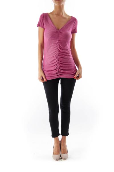 Pink Metallic Shirt