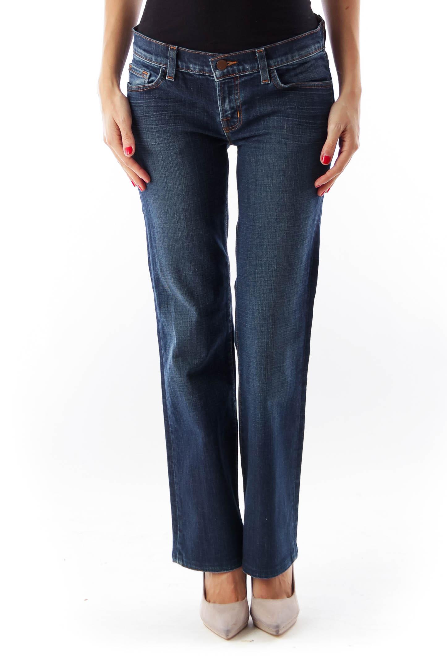 Blue Light Wash Wide Pants