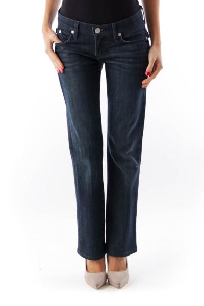 Dark Blue Flare Jean