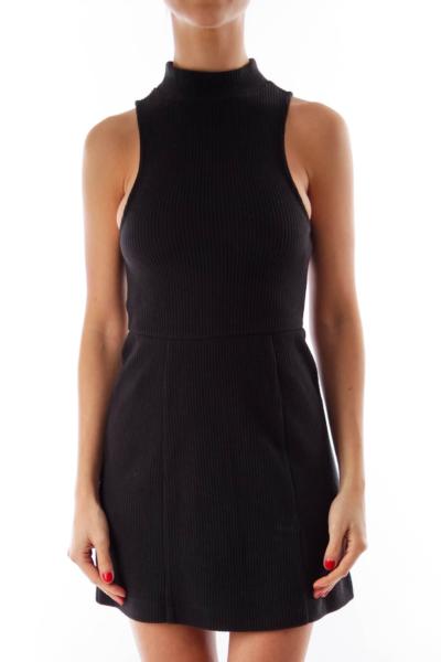 Black Turtleneck Knit Dress