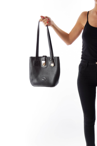 Black All Weather Leather 2 Duck Bag