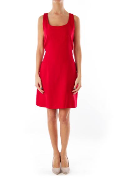 Red Pocket Mini Dress