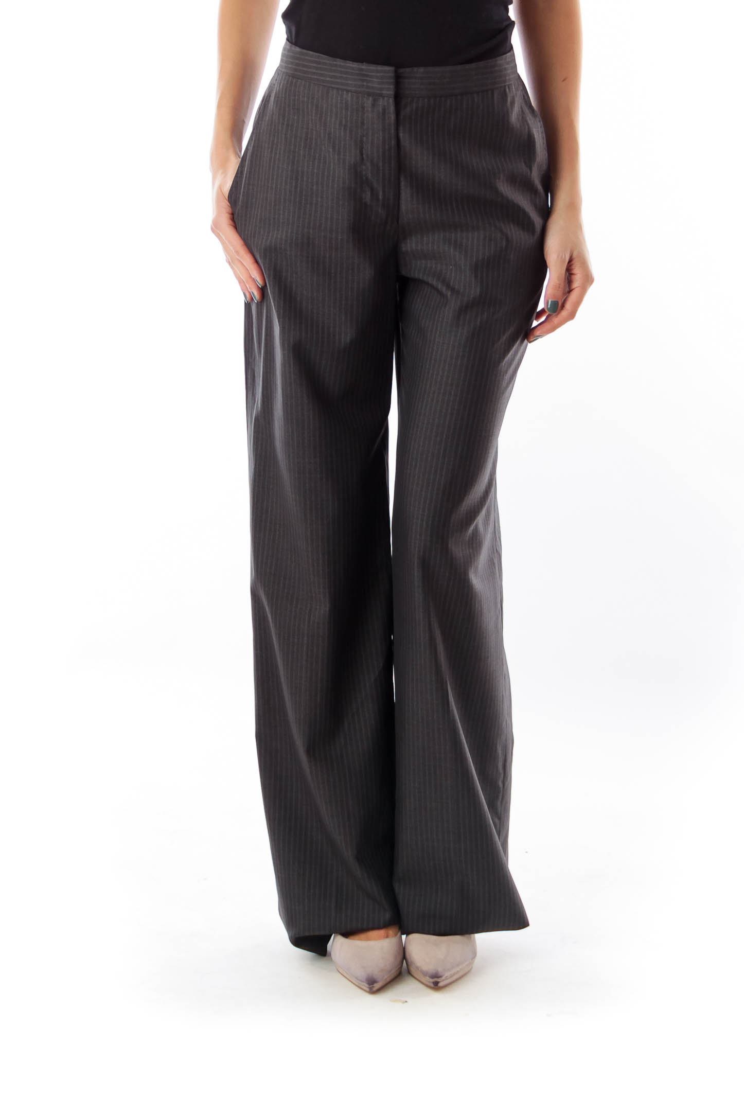 Dark Gray Pinstripe Pants