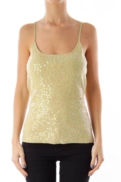 Green Sequins Top