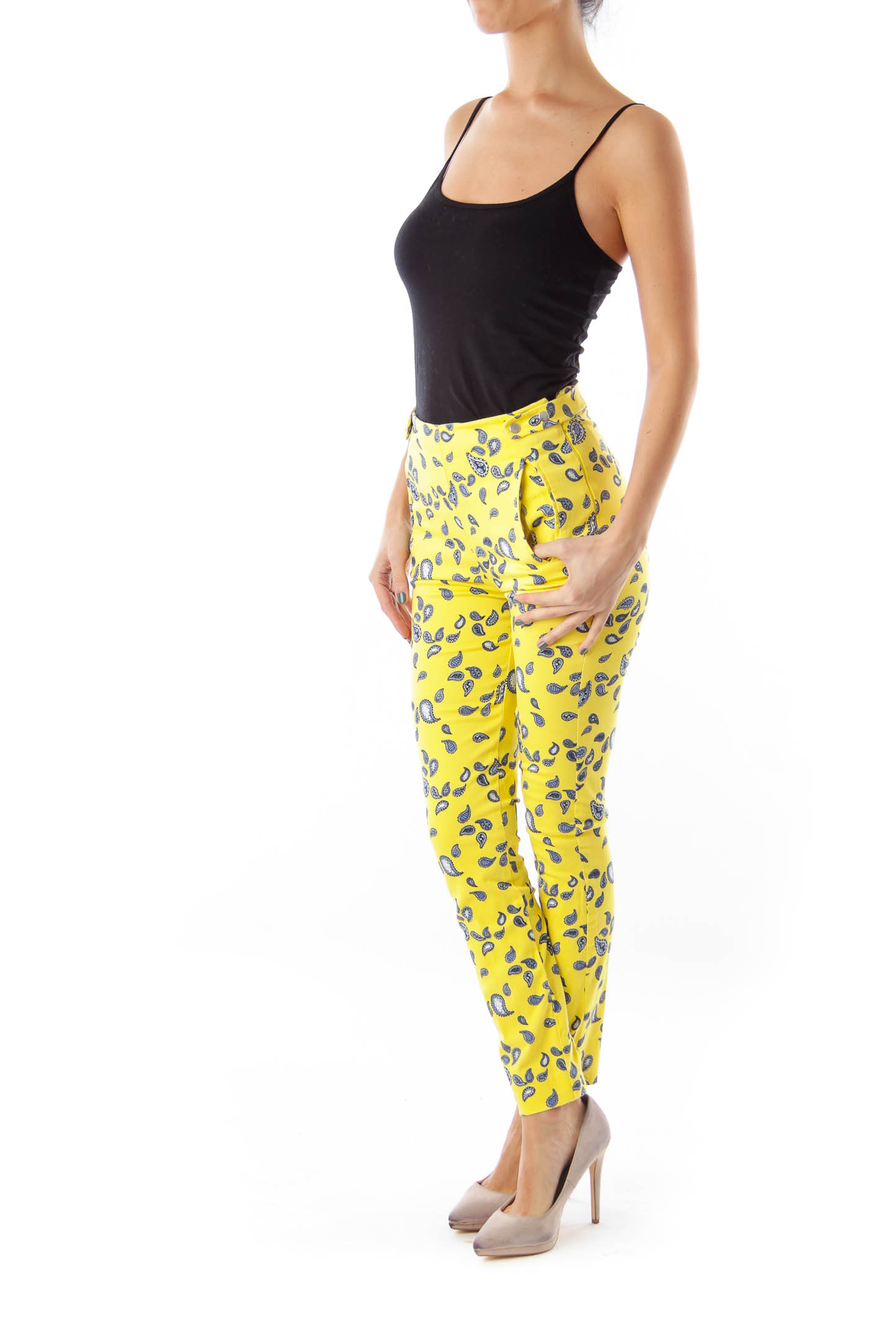 Yellow Paisley Pants