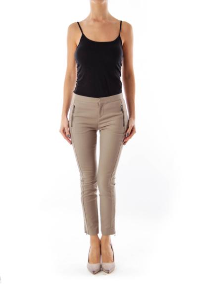 Taupe Skinny Pants