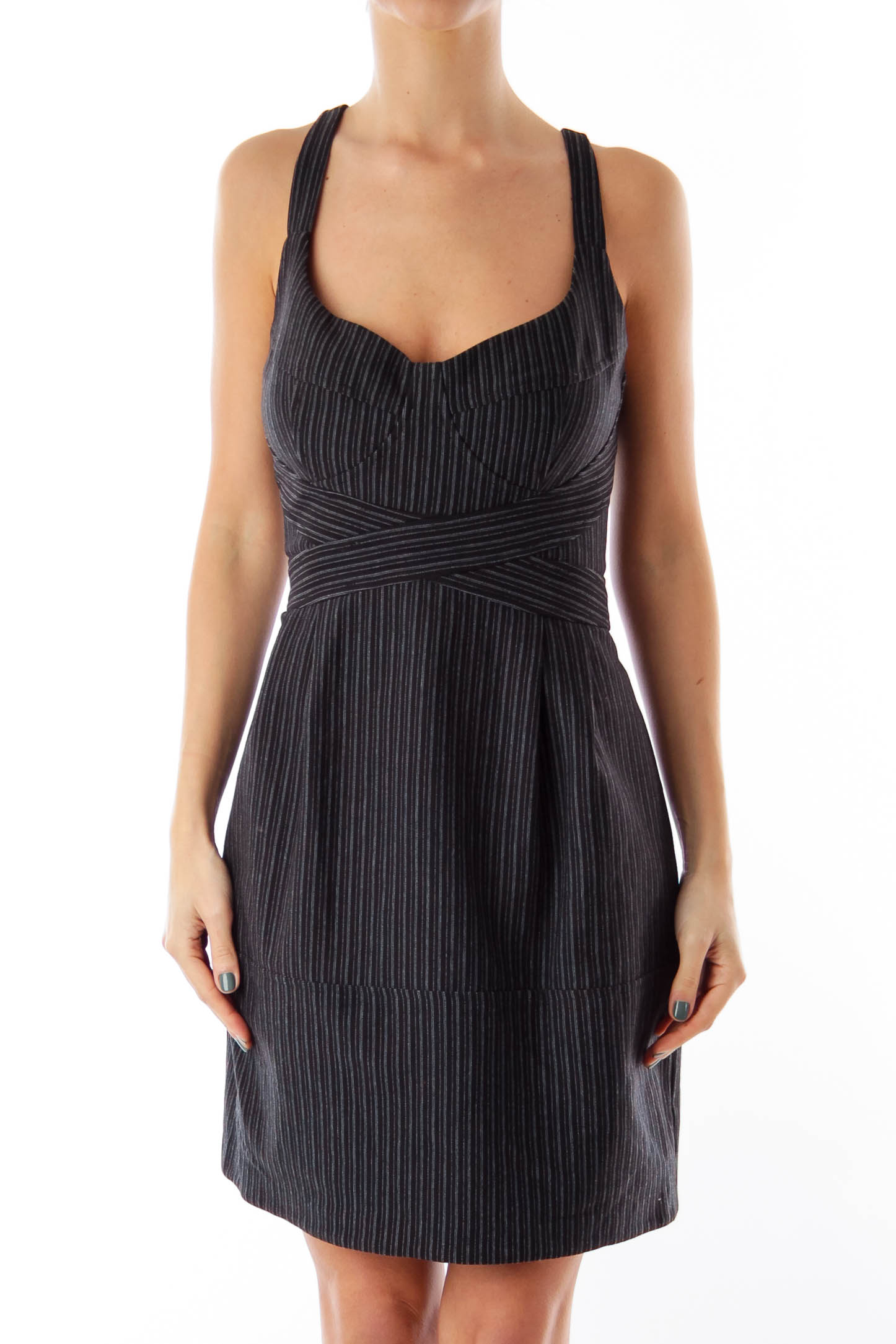 Black Stripe Mini Dress