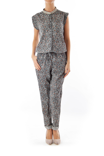 Print Sleeveless Jumpsuit