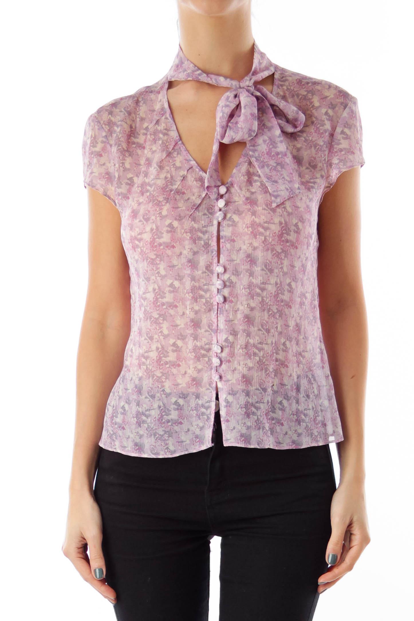 Pink & Purple Flower Shirt