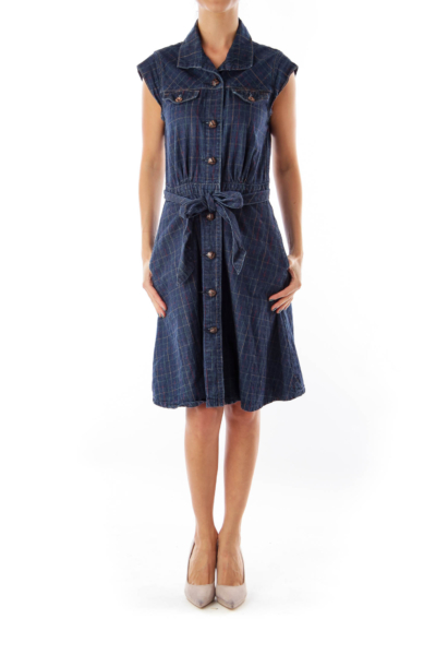 Blue Denim A Line Dress