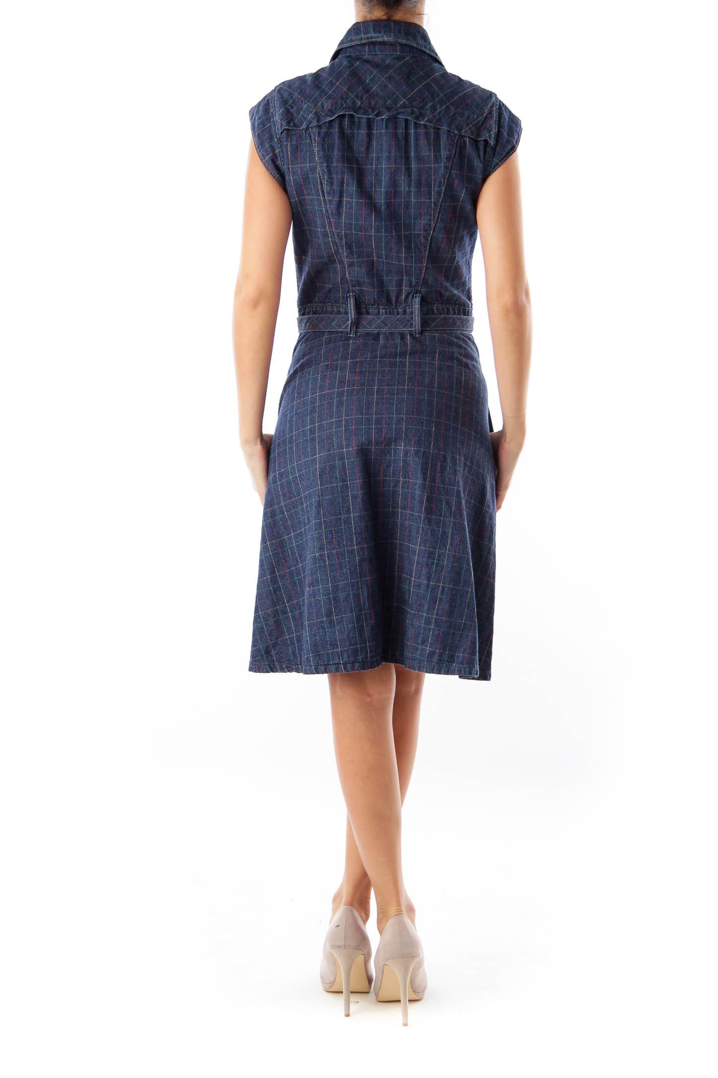 Blue Denim A Line Dress