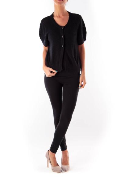 Black Crochet Shirt