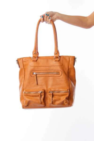 Brown Large Pocket Bag