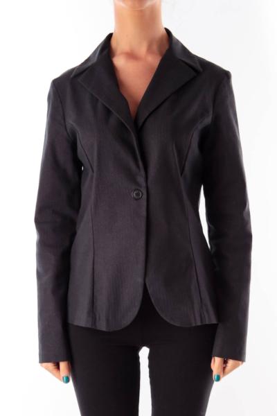 Black & Metallic Pinstripe Jacket